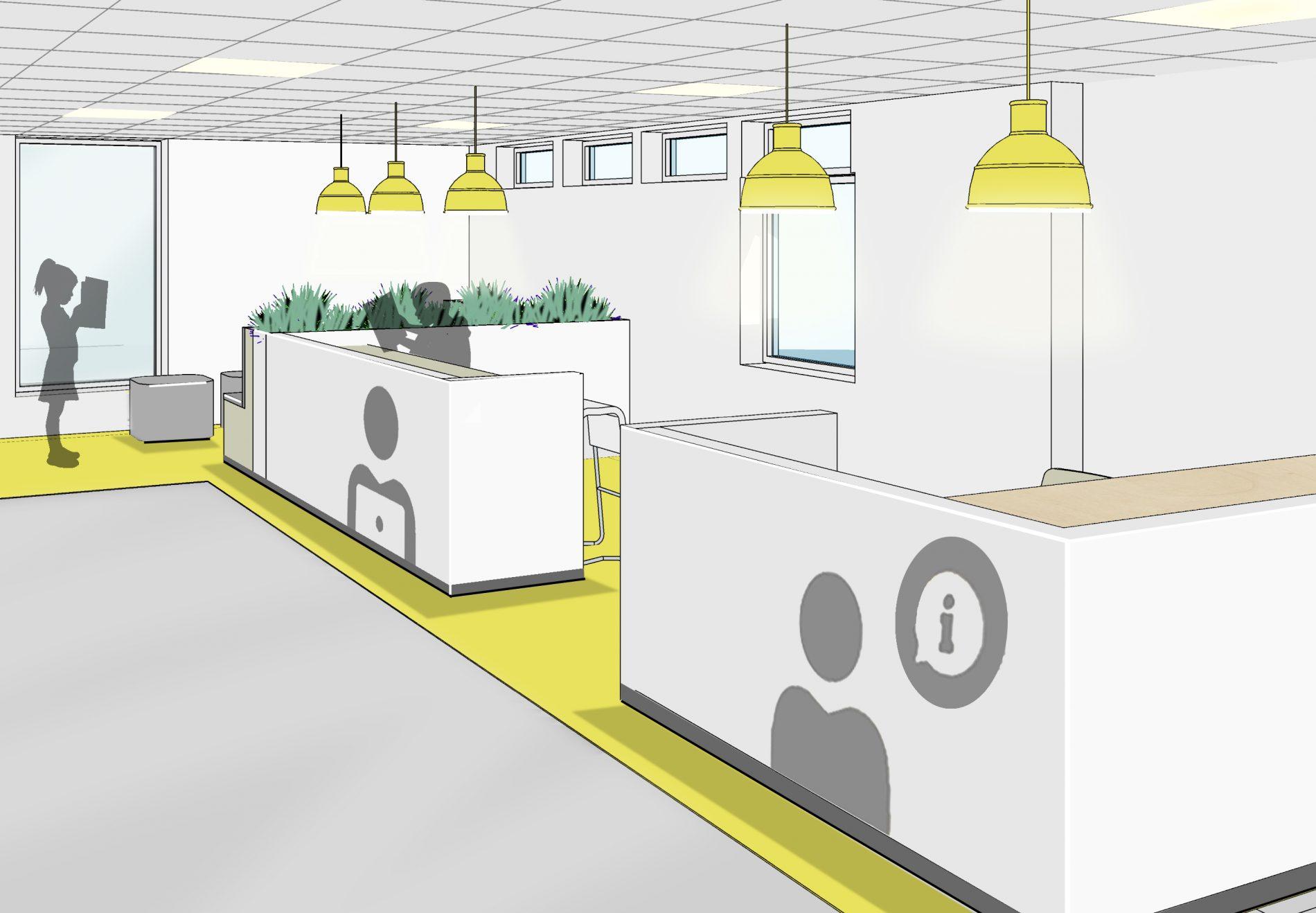 Edland Skule - Rehabilitering - Bibliotek - Point Design