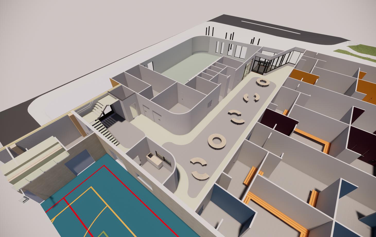 Idrettshall Lunde Barneskole Skien - Point Design