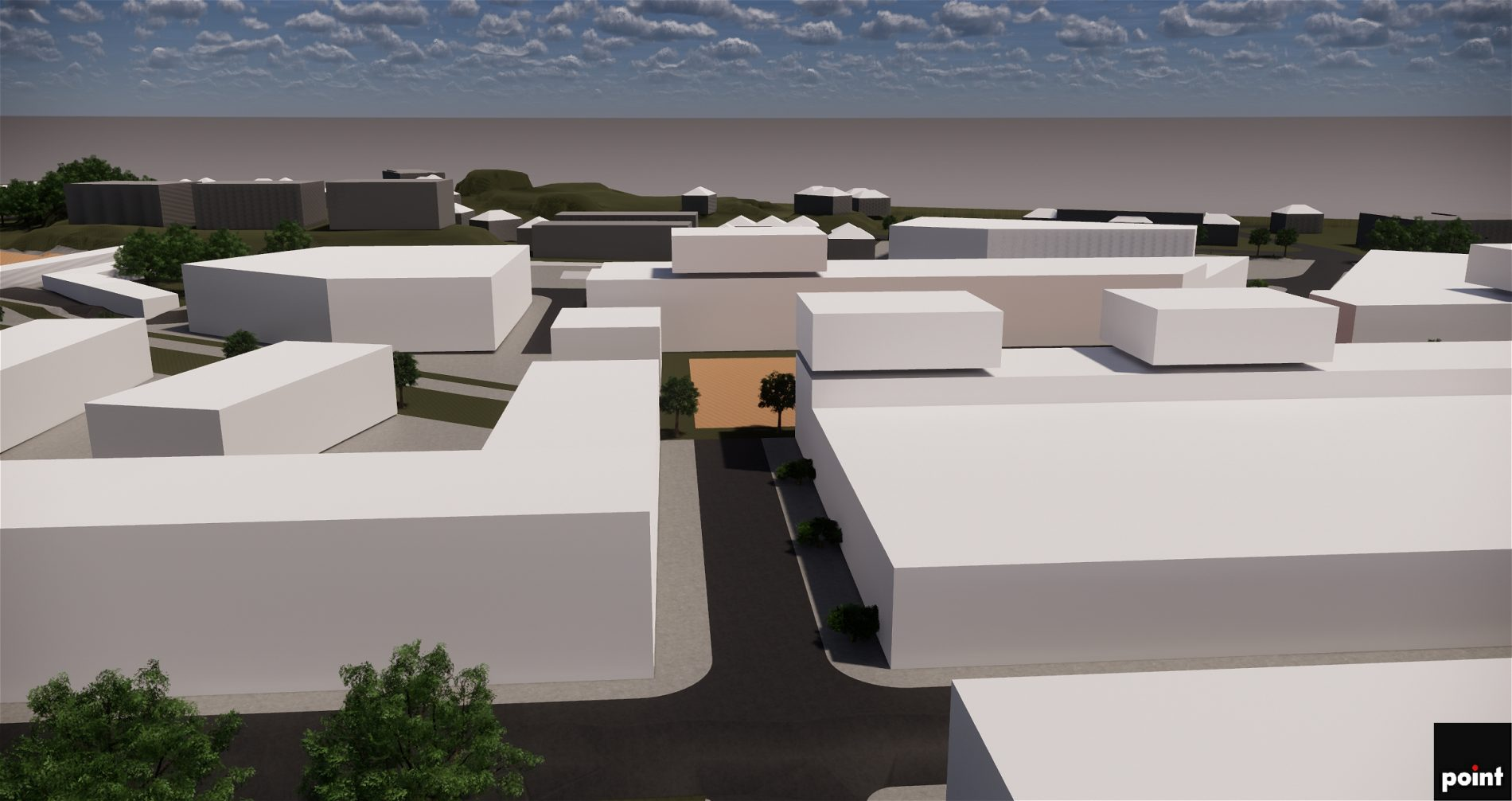 Hovlandsparken områdeutvikling Larvik - Point Design