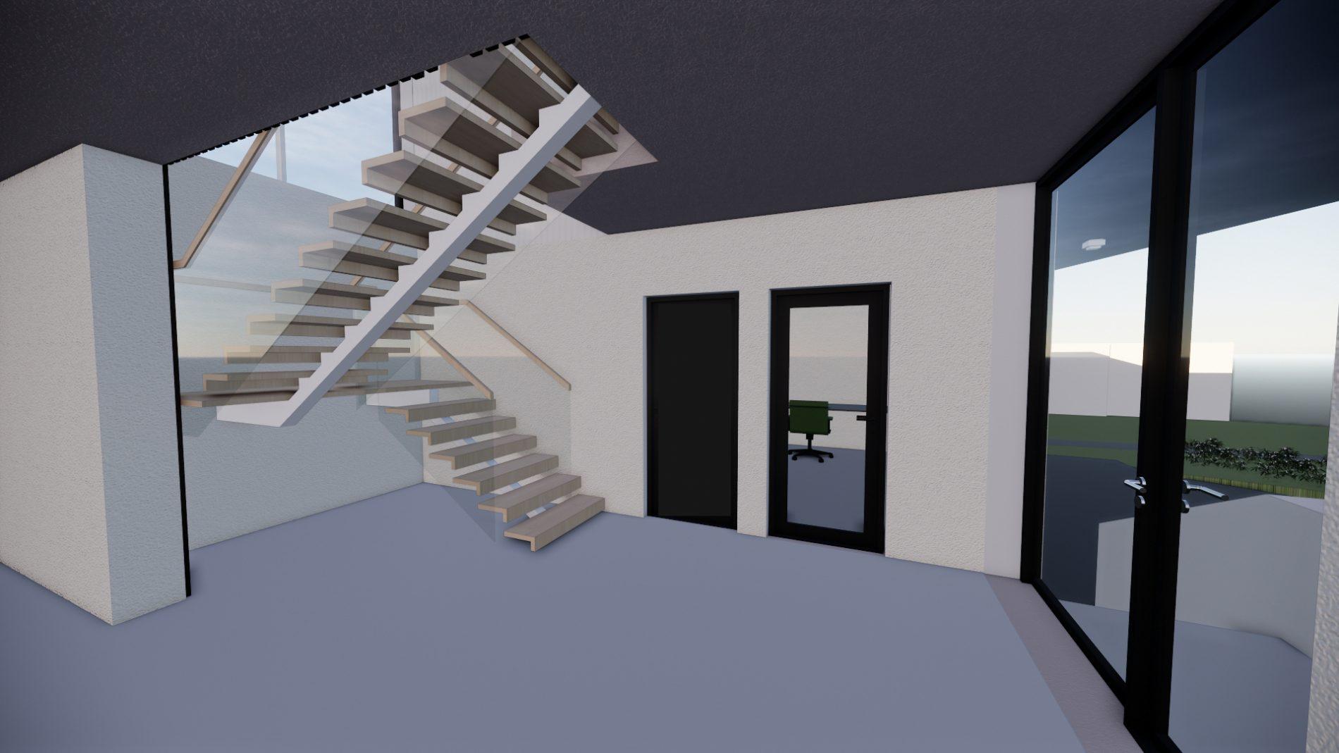 3d View Interiør Trapperom 1.etasje 2