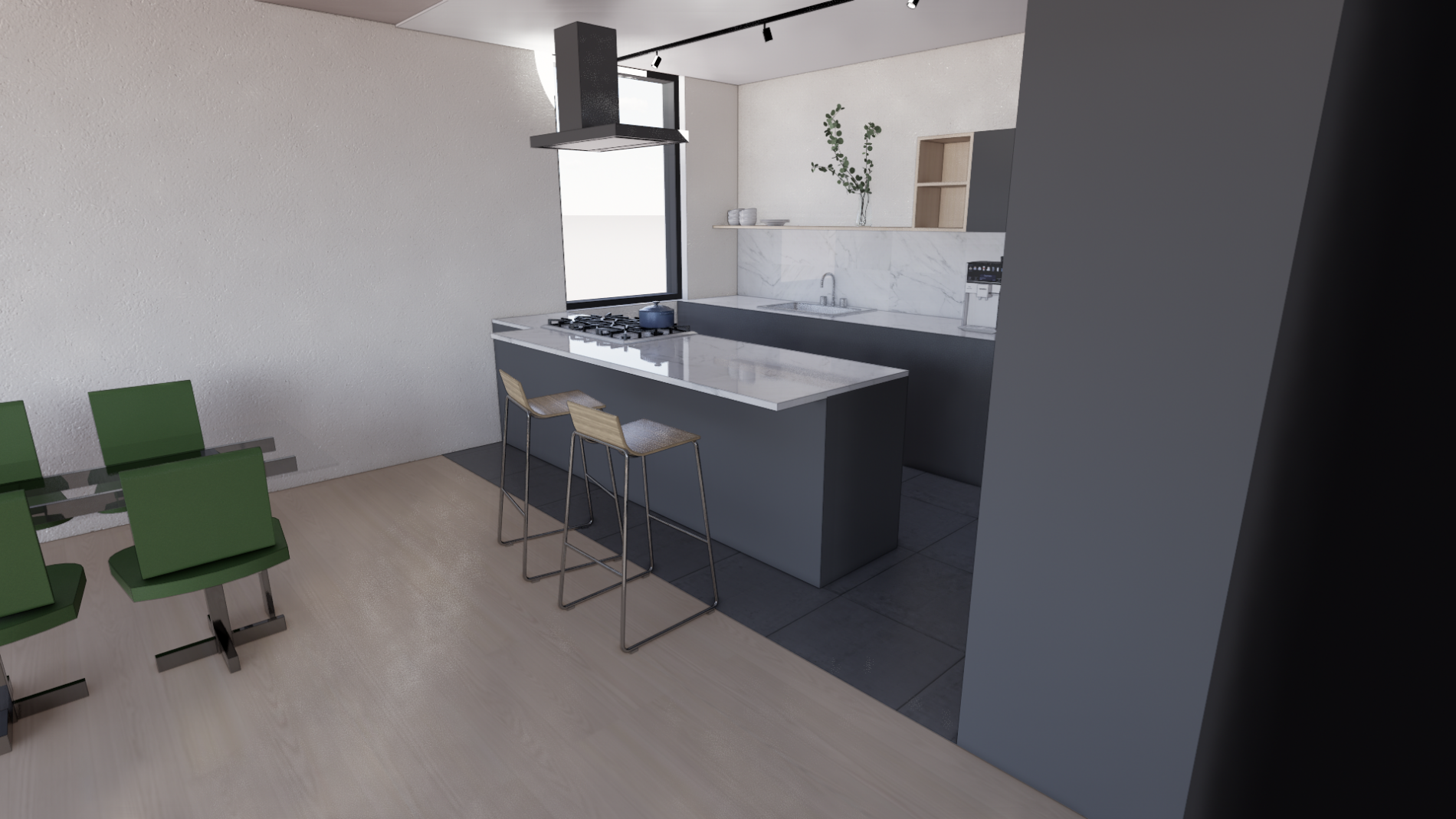 3d View Kjøkken 1