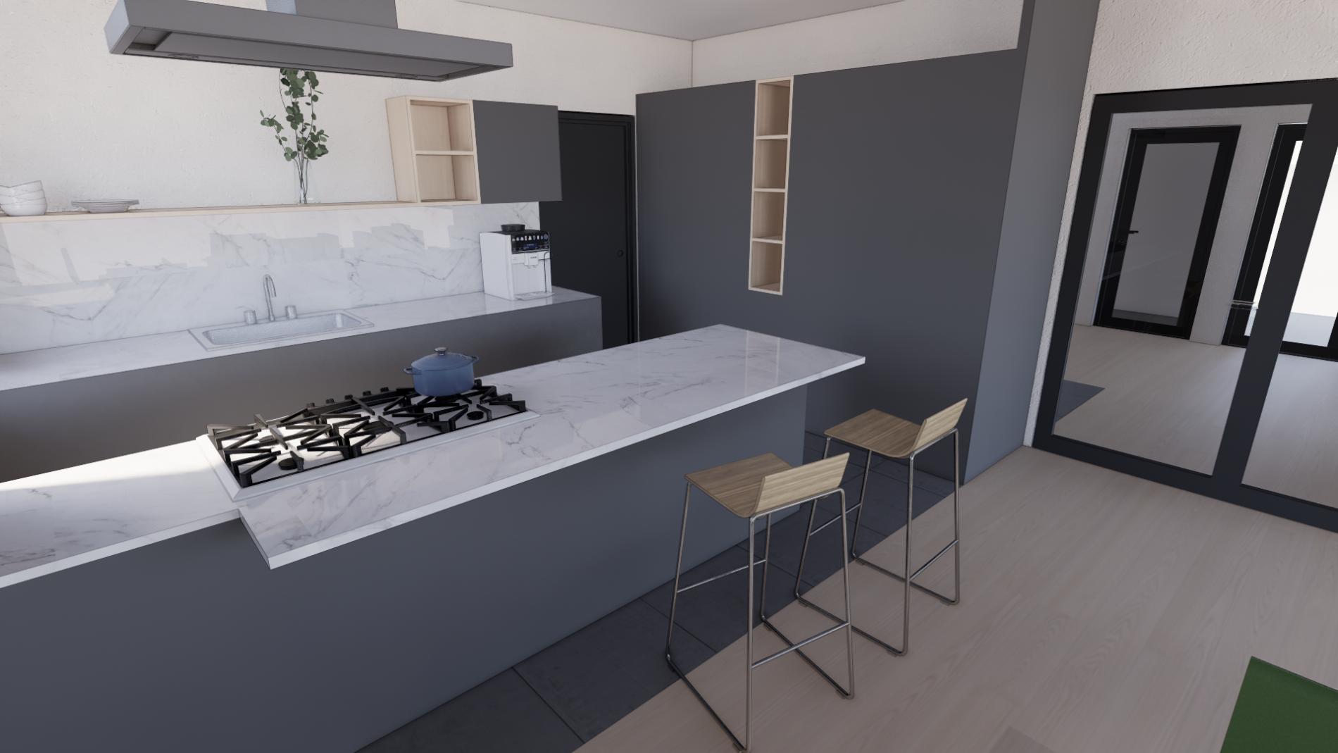 3d View Kjøkken 2