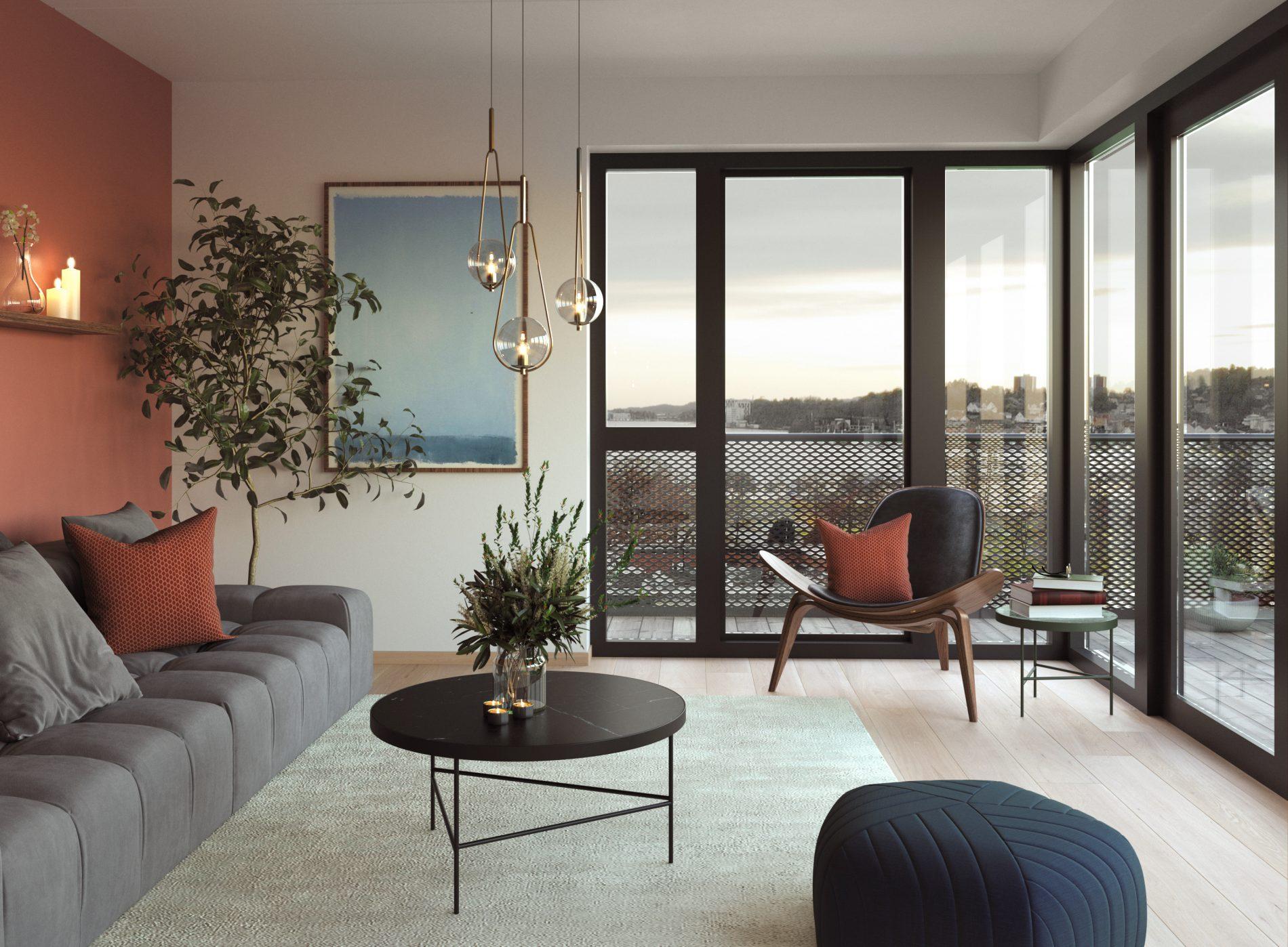 Dokkenkvartalet i Sandefjord: 36 leiligheter og parkering