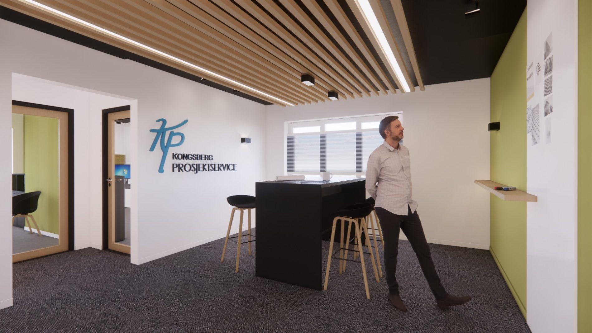Renovering og oppgradering av kontorlokaler i Kongsberg